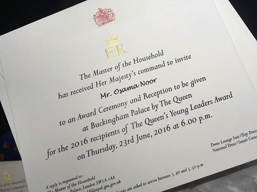 A royal invitation from Her Majesty the Queen.