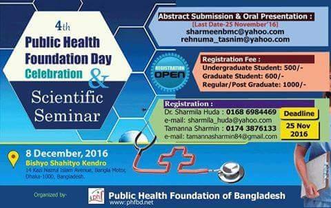 4th Public Health Foundation Day & Scientific Seminar