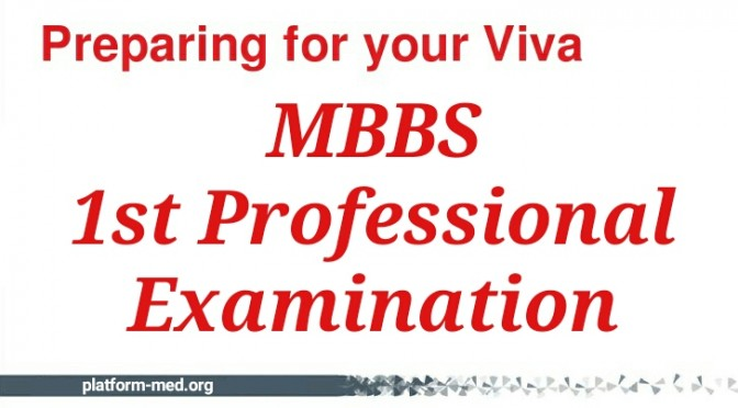 MBBS 1st Prof Viva Preparation