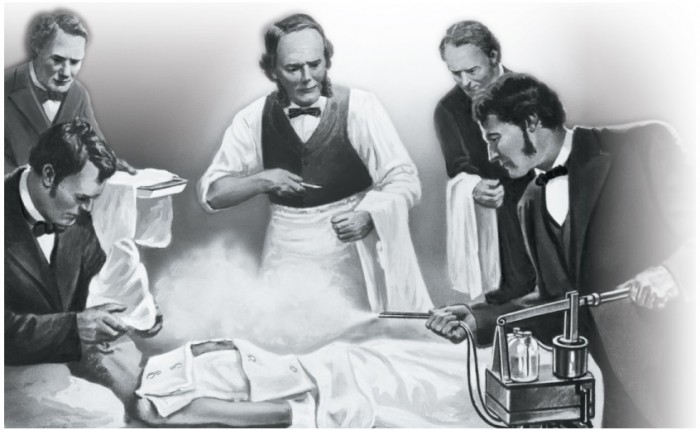Joseph ListerÕs operating theater in the mid-1800s.