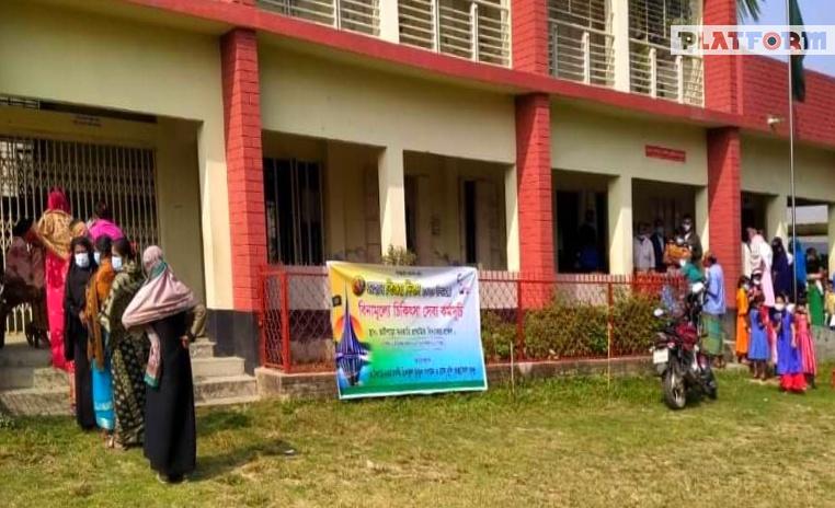 """বিজয় দিবসে """"হাসিখুশি স্বাস্থ্যসেবা কেন্দ্র"""" ও হিলফুল ফুযুলের বিনামূল্যে চিকিৎসা সেবা"""