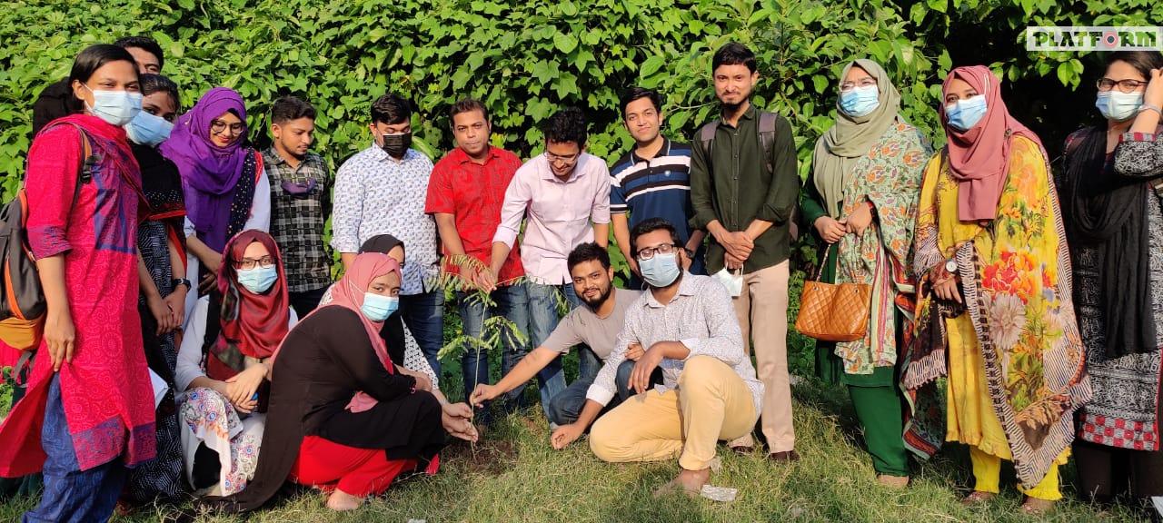 প্ল্যাটফর্ম অব মেডিকেল এন্ড ডেন্টাল সোসাইটি, চট্টগ্রাম জোন এর বৃক্ষরোপণ কর্মসূচী