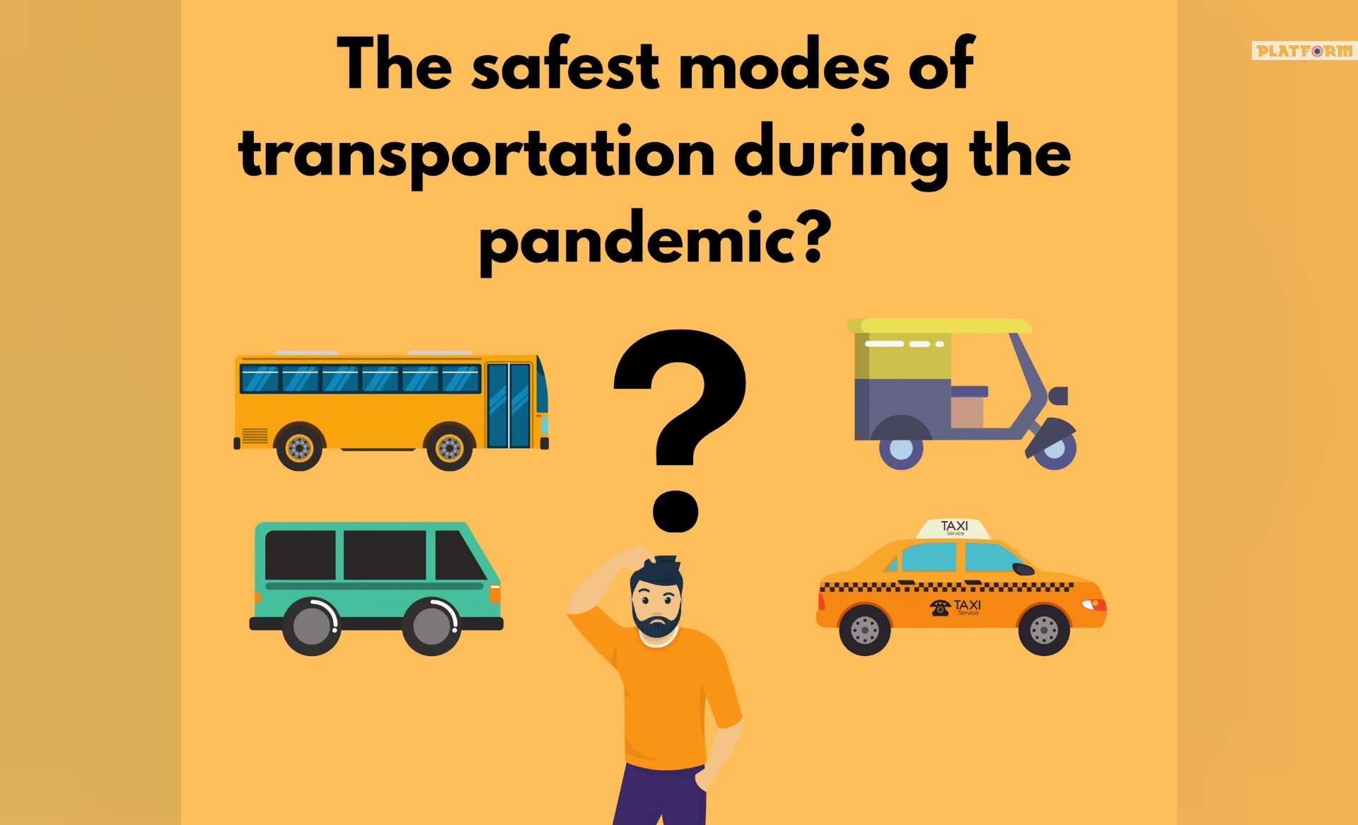 Which form of transportation will be the safest in COVID-19 era?